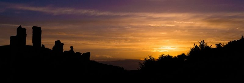 Corfe Castle Silhouette