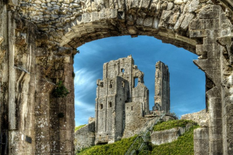 Corfe Castle - Through the Arch