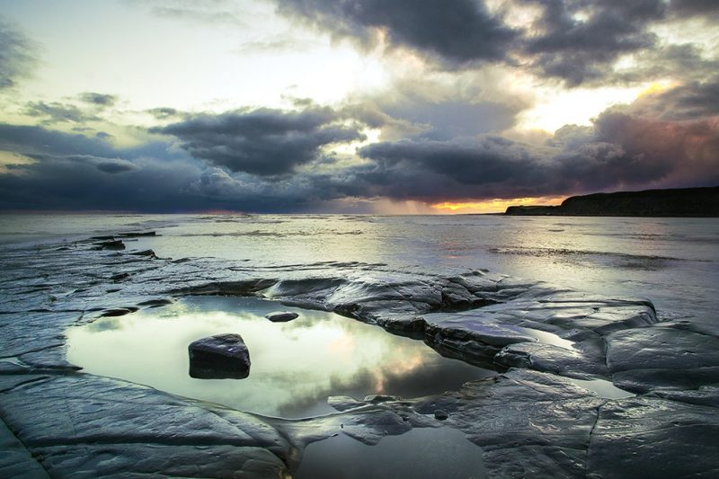 Kimmeridge Bay between the storms