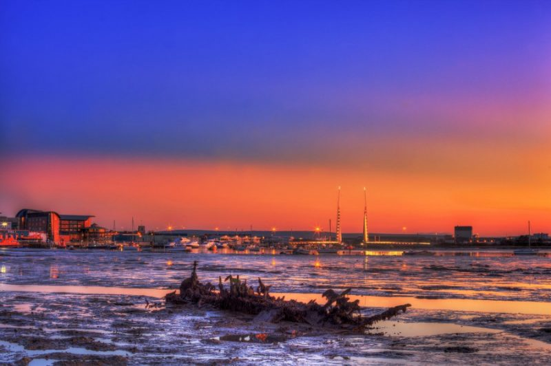 Poole Wreck - Sunset